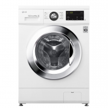 Masina spalat rufe Slim LG F2J3WN5WE, 6.5 kg, 1200 RPM, Clasa E, Inverter Direct Drive, Smart Diagnosis, Alb