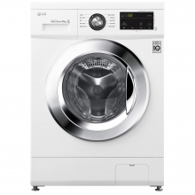 Masina spalat rufe LG F4J3TN5WE, 8 kg, 1400 RPM, Clasa D, 6 Motion Direct Drive, Smart Diagnosis, Alb