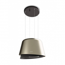 Hota tip insula Faber BELLE PLUS GOLD/W.DG MATT, 430 m3/h, diametru 69.5 cm, Circular LED, 58 dB, Gold