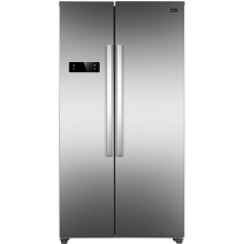 Side by side Beko GNO4331XP, 433 L, H 177 cm, clasa A++, NeoFrost Dual Cooling, Cooling Fan, Inox