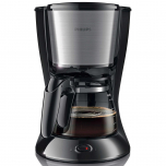 Cafetiera Philips Daily Collection HD7462/20, 1000 W, 1.2 l, 2-15 cesti, Sistem Anti-picurare, Sistem Aroma twister, Negru/Inox