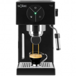 Espressor Solac Squissita CE4501, 1050 W, 20 bar, recipient 1.5 L, Sistem Double Cream, Negru